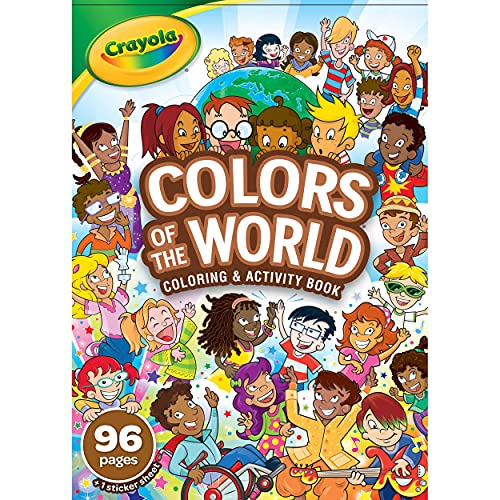 Crayola 96-Page Coloring Book, Colors of The World