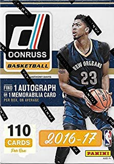 2016 2017 Donruss NBA Basketball Series Unopened Blaster Box of Packs Featuring One AUTOGRAPH or MEMORABILIA Card Per Box!!