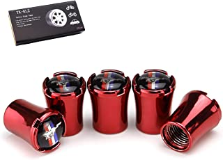 TK-KLZ 5Pcs Metal Car Wheel Tires Valve Stem Caps for Ford Mustang Car Styling Decorative Accessories