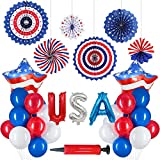 USA Foto Requisiten Photo Booth Props 4th of July American Independence Day Party Decorations Amerika Partyzubehör Dekoset