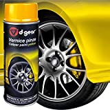 D-GEAR 1210104 Vernice Alta Temperatura e Pinze Freno, Giallo, 400 ml...