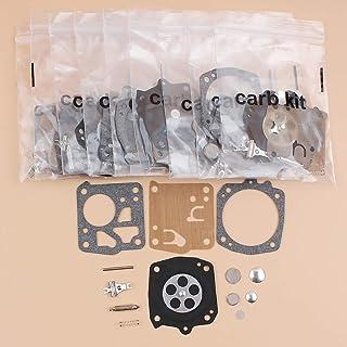 Tiempo Beixi 10pcs / Lot Carb Carburador de diafragma de reparación Fit Kit for Jonsered 625, 630, 670 Stihl 031 AV Motosierra Piezas