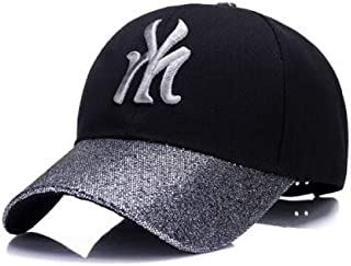 MKJNBH Spring Cotton Cap Baseball Cap Summer Sequin Cap Hip Hop Fitted Hats Men Women