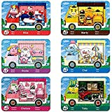 6 Pack Sanrio NFC Tag Game Cards, Collaboration Pack for Animal Crossing, Fully Compatible with Switch/Switch Lite/New 3DS
