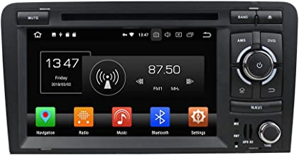 KUNFINE Android 9.0 Otca Core 4GB RAM Car DVD GPS Navigation Multimedia Player Car Stereo for Audi A3 2006 2007 2008 2009 2010 2011 2012 2013 Steering Wheel Control 3G WiFi Bluetooth