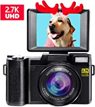 Digital Camera Vlogging Camera for Youtube 2.7K UHD 3.0...