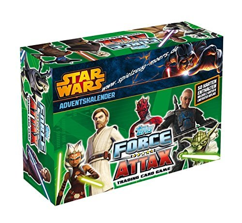 Force Attax Adventskalender - Star Wars the Clone Wars Serie 5 inklusive 50 Exklusiv Karten davon 2 Karten Limitierte Edition by Force Attax