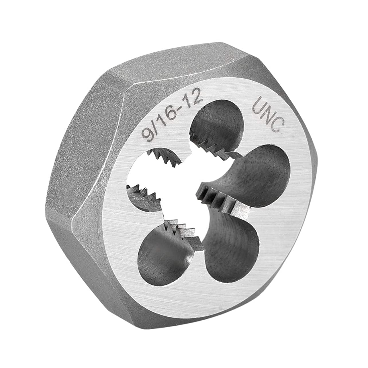 傾向暖かく感染するuxcell 六角スレッディングダイ マシンスレッドダイ UNC 9/16-12 炭素鋼 六角テーパーパイプ