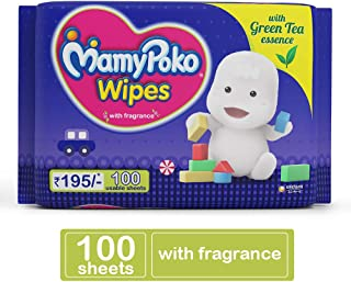 MamyPoko Wipes with Green Tea Essence 100 Wipes