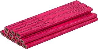 Measure Twice, Cut Once. Carpenter Pencils - 12 pack. (Neon Pink)