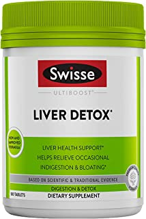 Swisse Liver Cleanse & Detox Supplement | Formula Supports & Repairs Liver Health & Function | Relief for Indigestion & Bl...