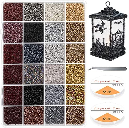 7200Pcs 12 0 Glass Pony Seed Beads Kit Gacuyi 24Colors 2mm Small Craft Beads for DIY Bracelet product image