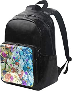 DEZIRO mochila de lona de coral, para llevar debajo del mar, mochila de viaje, mochila plegable para exteriores, correas ajustables para el hombro