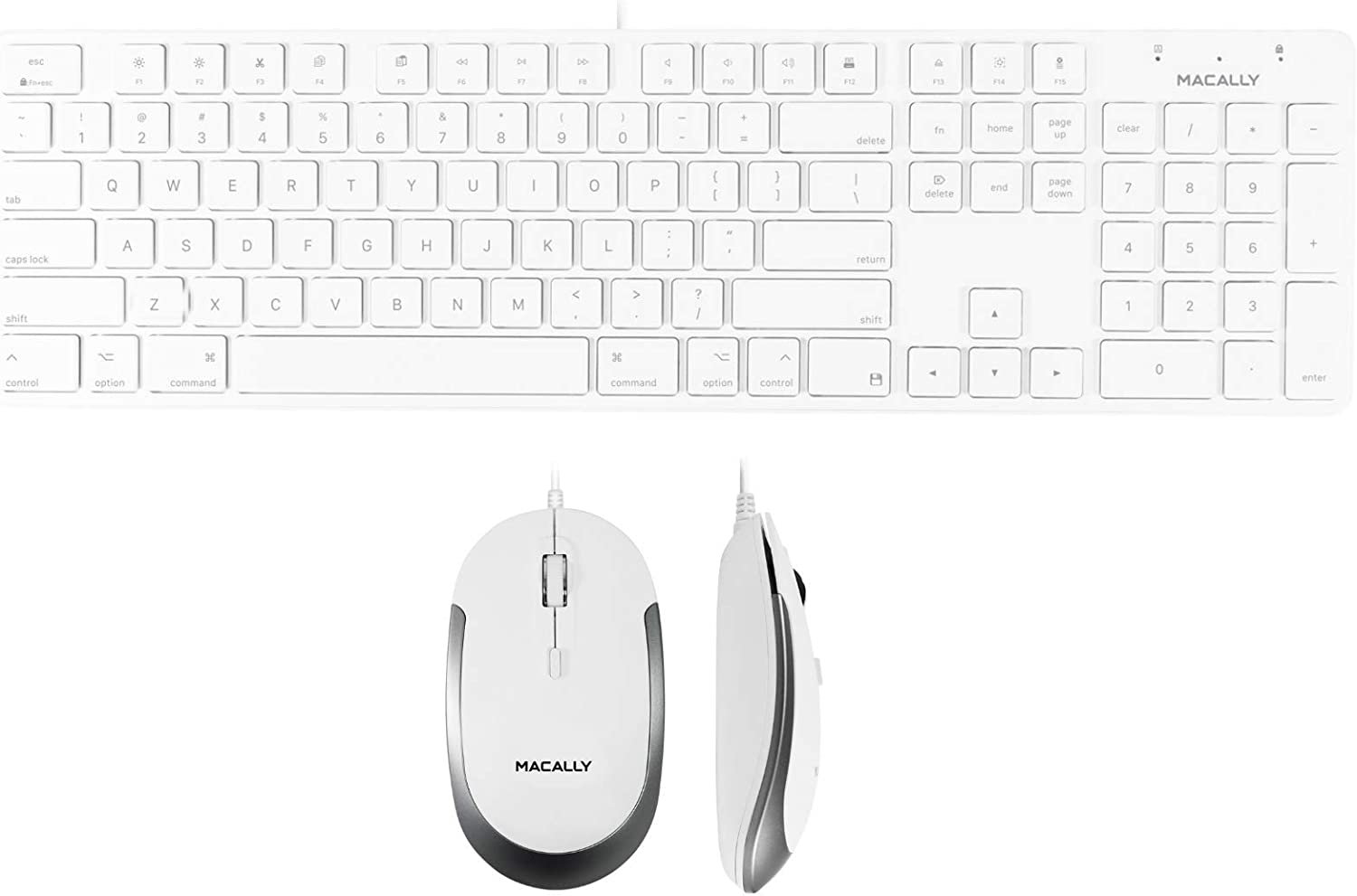 Macally Slim Wired Keyboard and a Classic Silent Ap Mouse Sale Special Price Columbus Mall
