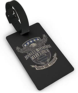 Harley-Davidson Military Travel Luggage Suitcase Labels ID Tags Business Card Holder