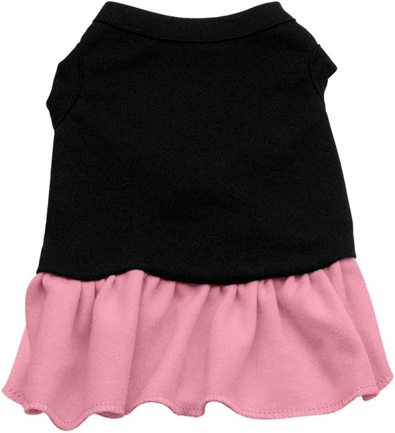 Mirage Pet Products 10Inch Plain Dress, Small, Black with Pink