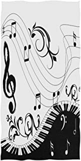 Naanle Music Note Piano Keyboard with Floral Branch Pattern