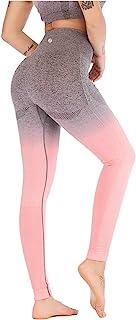 Leoyee Sömlös gym leggings power stretch hög midja yogabyxor sportbyxor