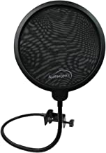 AUPHONIX Pop Filter for Blue Yeti Microphone – Custom Fit, Easy On Clasp Shield Delivers Perfectly Optimized Voice Clarity – Double Mesh Windscreen Filter Mask Blocks S Hiss, Thud, Pop & BP Plosives