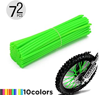 Motorcycle Spoke Skins, 72pcs/lot 24cm Universal Colorful Motocross Dirt Bike Spoke Covers for 8