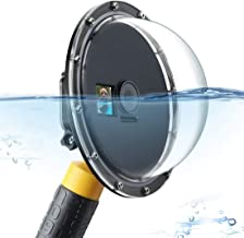 SOONSUN 6' Underwater Dome Port Lens Cover with Waterproof Diving Housing Case for DJI Osmo Action Camera - 45m (147ft) Underwater Photography