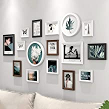 GJNVBDZSF Molduras para fotos, molduras para parede, conjunto de 16 molduras, combinação de decoração de sofá, parede