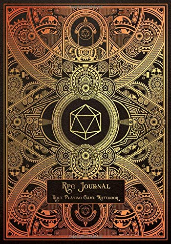 RPG Journal Mixed Paper: Ruled, Graph, Hexagon and Dot Grid | Role Playing Game Companion Gold Steampunk Engine (Steampunk RPG Game Series)