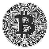 ASFD Moneda Bitcoin Dorada/Plateada Moneda Bitcoins física de Bronce Colección de Arte de Monedas BTC Colección física Decoración navideña Regalo (Plata)