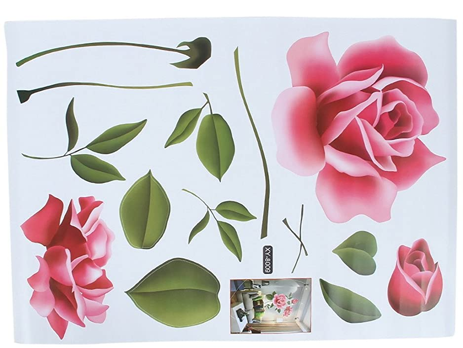 抽出かんがい偏差C-Princess壁紙シール ウォールシール ウォールステッカー ウォールペーパー アート 壁飾り 部屋 客間 書斎に最適 バラ 薔薇 美しい 暖かい 雰囲気 簡単貼り