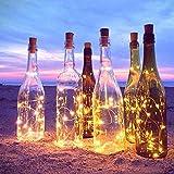20 LED 2M FlaschenLicht Weinflasche Lichter korken Form 10 Pack Kupferdraht für Party Weihnachten Halloween Hochzeit - 2