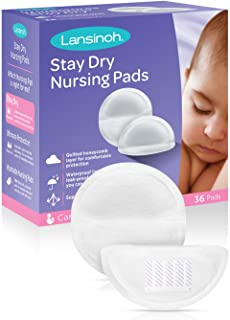 Lansinoh Stay Dry Disposable Nursing Pads for Breastfeeding, 36 count