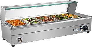 VEVOR Bain Marie B25, Chauffe Plat 1500 W, Plat-réchaud 5 casseroles, Parfait pour Conserver de délicieux Aliments à la te...