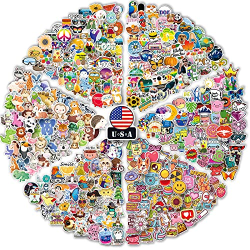 600 pcs Mini Stickers, Phone Case Stickers Waterproof Small Sticker Packs for Laptop, Water Bottle, Cup, Notebook, Vinyl Decals for Kids, Teens, Adults