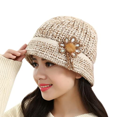 5bbc07bfbf8 TREESTAR Knitting Wind Resistance Warm In Winter Fluff Fashion Skiing Ladies  Outdoors Insulation Hat 1PCS 26x16cm