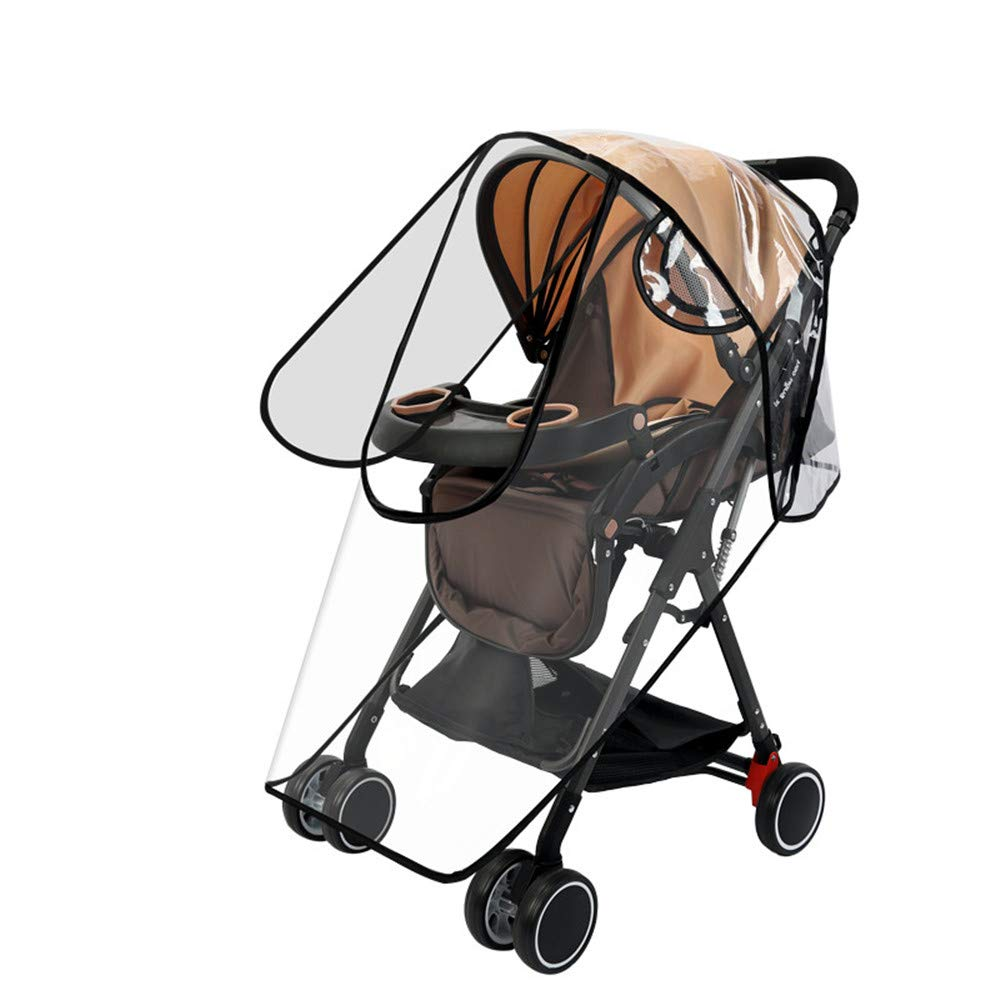 HJQJ Stroller Rain Cover Universal ,Baby Travel Weather Shield ,EVA Weather Shield Waterproof Windproof Dustproof Cover for Stroller.