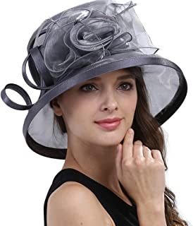Women's Kentucky Derby Tea Party Dress Church Fascinators Fancy Hats