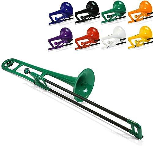PBONE 700643 Trombone avec embouchure et housse, Vert