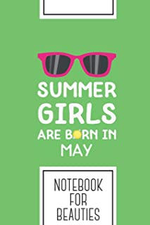 Notebook for Beauties: Lined Journal with Summer Girls in MAY Design - Cool Gift for a friend or family who loves people p...