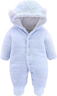 طفل الفتيان الفتيات الشتاء رومبير الوليد الدافئة الصوف بذلة أبلى الزي ملابس الأطفال (Color : Light blue, Size : 6-9 Months)