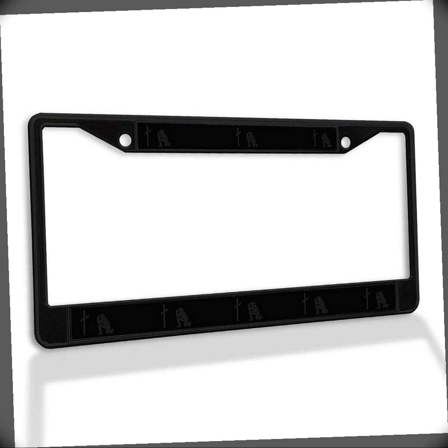New License Plate New arrival Sale Frame Cross and Metal Cowboy Car Pray F Insert