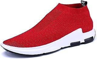 JIYE Mens Running Shoes Sock-Like Free Transform Flyknit Sport Fashion Sneakers