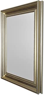 Art Street Modern Warnish Wall Decorative Mirror Silver Color 12 x18 Inch, Outer Size 16 x 22 Inch