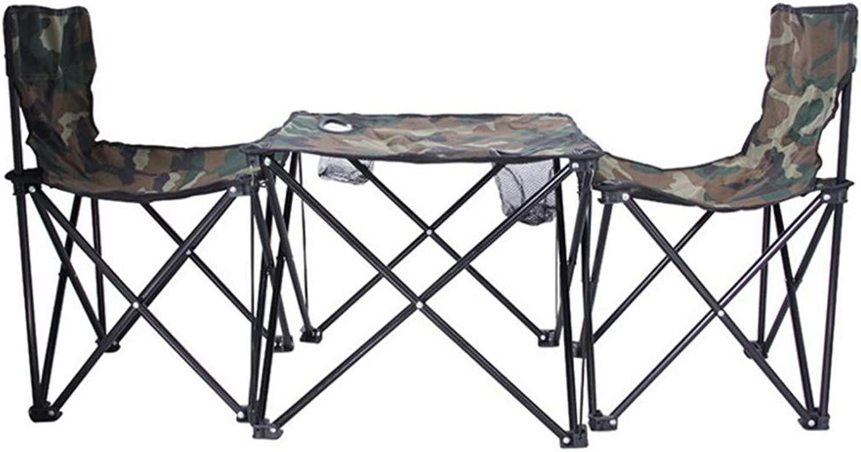 MHKBD-JPポータブル折りたたみ式テーブルチェアセットキャリングバッグ、軽量で安定した折りたたみ式テーブル2スツールセット、釣り用、キャンプ、庭、旅行、ビーチ、子供用ピクニック 折りたたみ椅子 (色 : 黒)
