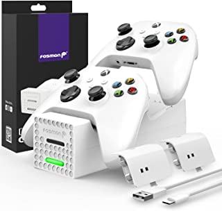 Fosmon Dual 2 Controller Charger Compatible with Xbox Series X/S Controllers (Not for Xbox One / 360), (Two Slot) High Spe...