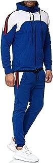 MogogoMen Zip-Up Hood Active 2 Piece Set Hoodie and Sweat Pants Set