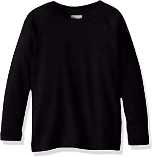 Icebreaker Merino Girls' Kids Oasis Ls Crewe, Black, 10