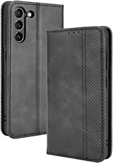 LAGUI Compatible for Samsung Galaxy S21 FE Case, Retro Style Wallet Magnetic Cover with Credit Card Slots and Flip Stand. ...