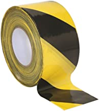 Sealey BTBY 80mm x 100mtr zwart/geel niet-klevende gevaar waarschuwing Barrier tape