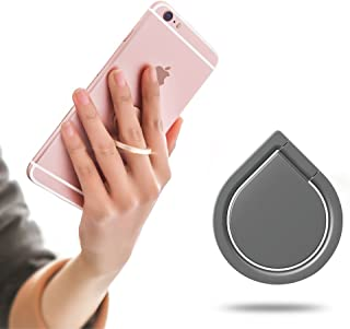 SOUNDMAE Universal Phone Holder, Finger Ring Holder Grip 360 Degree Stand Car Mounts for iPhone, iPad, Samsung, HTC, Nokia Smartphones Tablet- Never Drop Your Phone or Tablet Again - (Black)