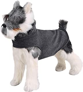 FOREYY Reflective Dog Fleece Coat with Leash Attachment Hole, Dogs Pet Autumn Winter Jacket Sweater Vest Apparel Clothes for Small Medium and Large Dogs